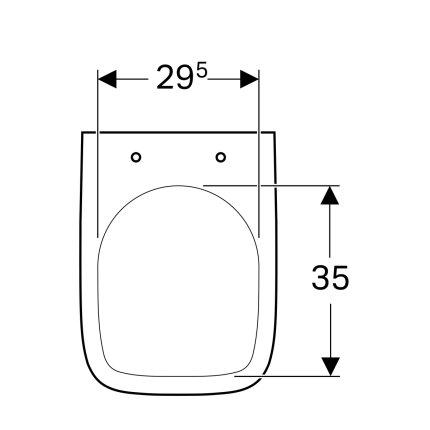 Vas WC suspendat Geberit Selnova Square Compact 36x48cm, alb
