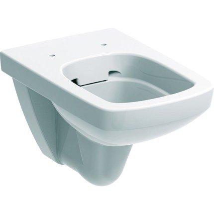 Set vas WC suspendat Geberit Selnova Square Rimfree cu capac inchidere lenta