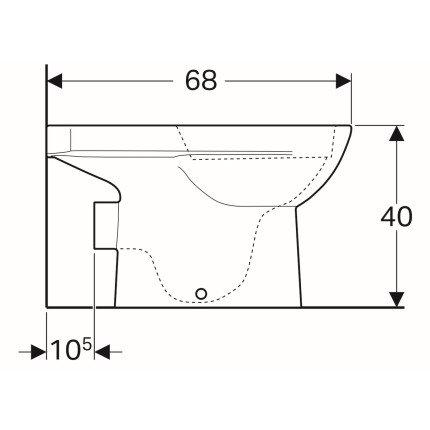 Set complet vas WC Geberit Selnova Rimfree cu rezervor asezat si capac inchidere lenta