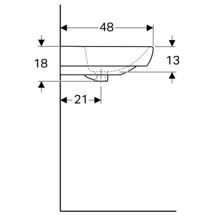 Lavoar Geberit Selnova Square 65cm, alb