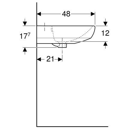 Lavoar Geberit Selnova 60cm