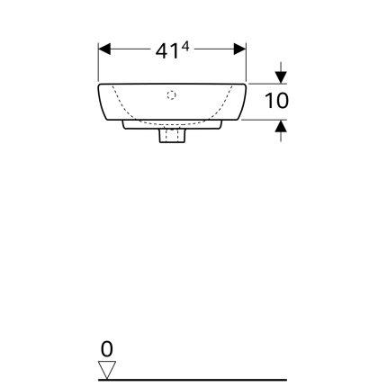Lavoar de colt Geberit Selnova 41.4cm, alb