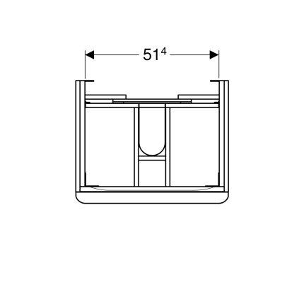 Dulap baza Geberit Smyle Square cu 2 sertare, 60cm, gri nisip lucios