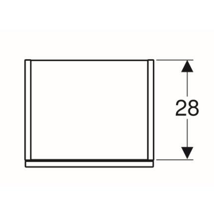 Dulap suspendat Geberit Smyle Square, o usa cu inchidere lenta, 36x30x118cm, lava mat