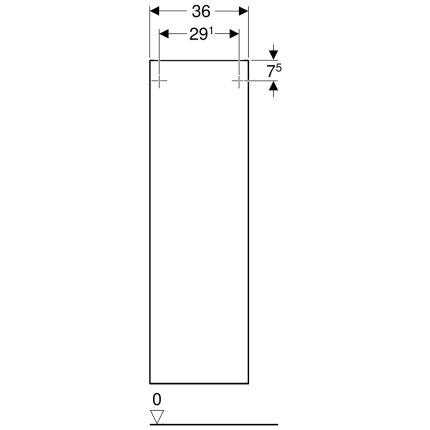 Dulap suspendat Geberit Smyle Square, o usa cu inchidere lenta, 36x30x118cm, gri nisip lucios