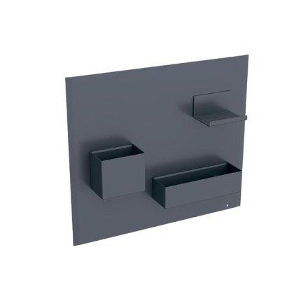 Panou magnetic Geberit Acanto cu cutii depozitare lava mat  - lava mat