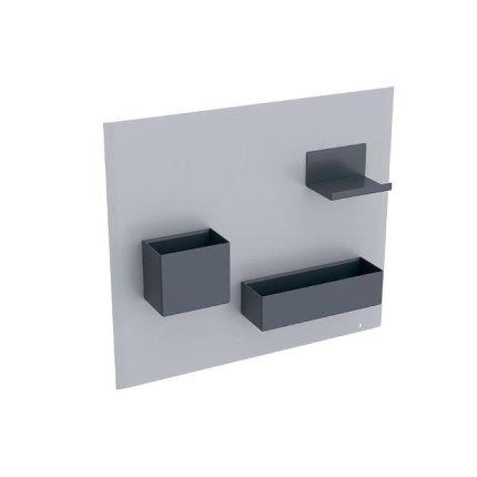 Panou magnetic Geberit Acanto cu cutii depozitare gri nisip mat  - lava mat