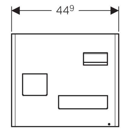 Panou magnetic Geberit Acanto cu cutii depozitare alb mat  - lava mat