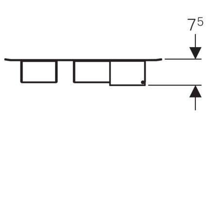 Panou magnetic Geberit Acanto cu cutii depozitare negru mat  - Lava mat