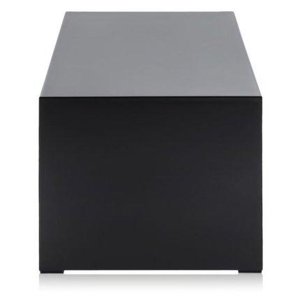 Masuta Kartell Invisible design Tokujin Yoshioka, 120x40x31.5cm, negru lucios