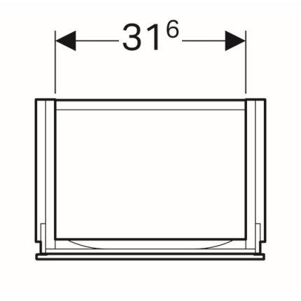 Dulap baza Geberit Xeno2 38x26.5cm, cu o usa, greige mat