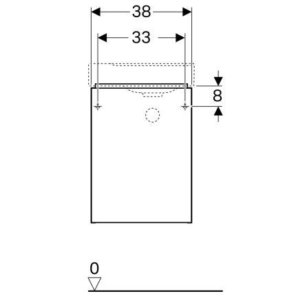 Dulap baza Geberit Xeno2 38x26.5cm, cu o usa, alb lucios