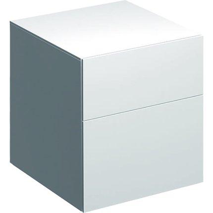 Dulap suspendat Geberit Xeno2 45x46.2x51cm cu doua sertare, alb lucios
