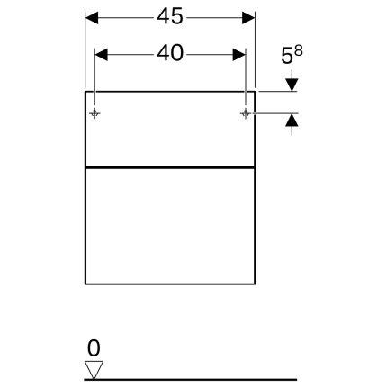 Dulap suspendat Geberit Xeno2 45x46.2x51cm cu doua sertare, greige mat
