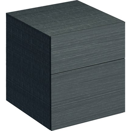 Dulap suspendat Geberit Xeno2 45x46.2x51cm cu doua sertare, gri structurat
