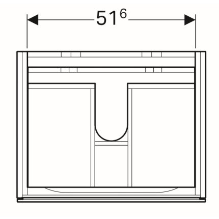 Dulap baza Geberit Xeno2 58x46.2cm, cu un sertar, greige mat