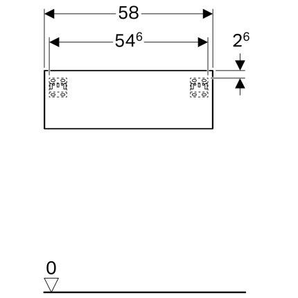Dulap suspendat Geberit Xeno2 58x46.2x20cm cu un sertar, greige mat