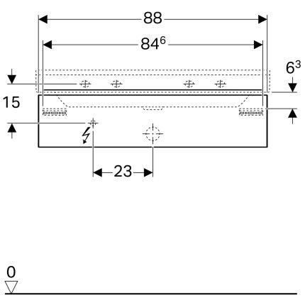 Dulap baza Geberit Xeno2 88x46.2x22cm, cu un sertar, greige mat