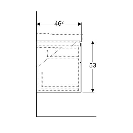 Dulap baza Geberit Xeno2 117.4cm cu patru sertare, greige mat