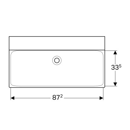 Lavoar Geberit Xeno2 90x48cm, fara orificiu baterie, fara preaplin, montare pe mobilier, KeraTect alb