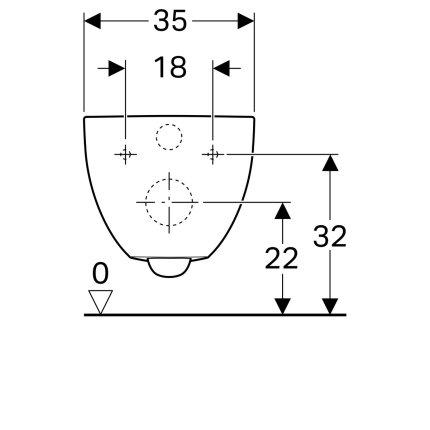 Set vas wc suspendat Geberit Acanto Rimfree cu capac inchidere lenta si Quick Release