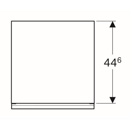 Dulap suspendat Geberit Acanto 45xx47.6x52cm, cu un sertar sticla alba, corp alb lucios