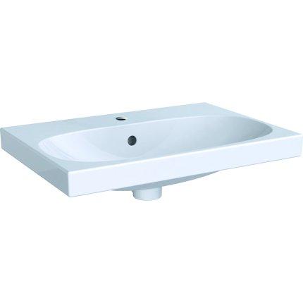 Lavoar Geberit Acanto 60x42.2cm, montare pe mobilier, alb