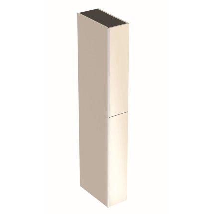 Dulap inalt Geberit Acanto 22x47.6x173cm, cu doua sertare sticla gri nisip, corp gri nisip mat