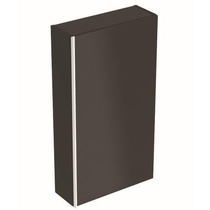 Dulap suspendat Geberit Acanto 45x17.4x82cm, cu o usa sticla negru, corp negru mat