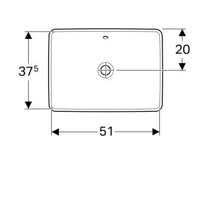 Lavoar Geberit VariForm 55x40cm, fara orificiu baterie, montare in blat, alb