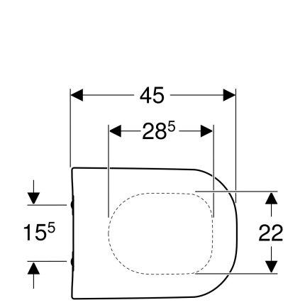 Capac wc Geberit Smyle cu inchidere lenta si sistem QuickRelease