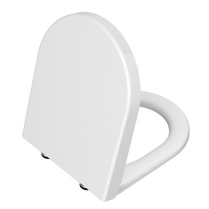 Set vas wc suspendat Vitra Integra Rim-Ex cu prinderi ascunse, capac inchidere lenta si rezervor incastrat Viega cu clapeta crom