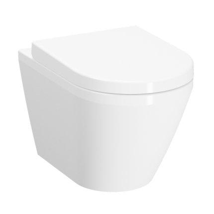 Vas WC suspendat Vitra Integra 54cm Rim-Ex, prinderi ascunse