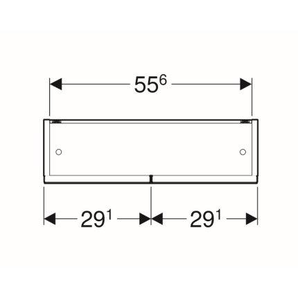 Dulap dublu cu oglinda Geberit Selnova Square 58.8cm, alb lucios