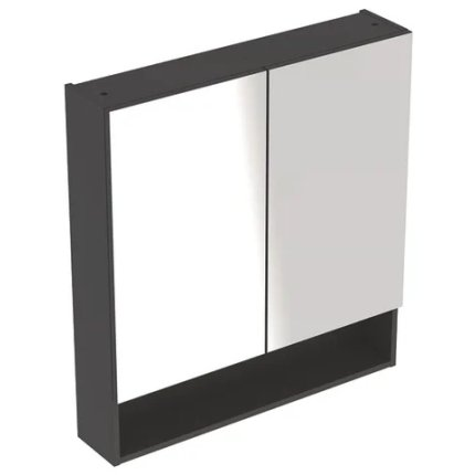 Dulap dublu cu oglinda Geberit Selnova Square 58.8cm, lava mat