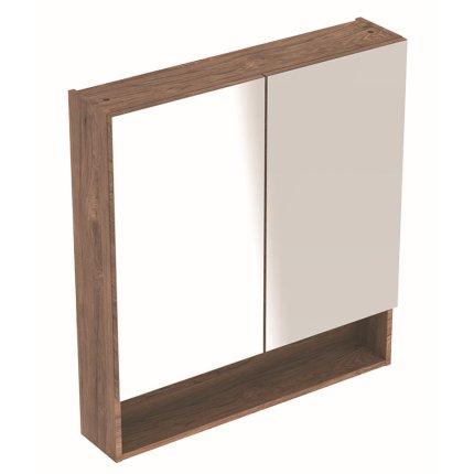 Dulap dublu cu oglinda Geberit Selnova Square 58.8cm, nuc american