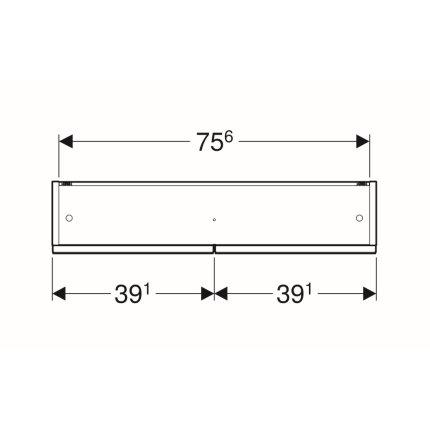 Dulap dublu cu oglinda Geberit Selnova Square 78.8cm, nuc american