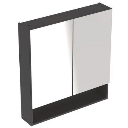 Dulap dublu cu oglinda Geberit Selnova Square 78.8cm, lava mat