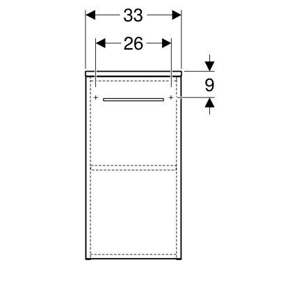 Dulap mic suspendat Geberit Selnova 33x65x29.7cm, nuc american