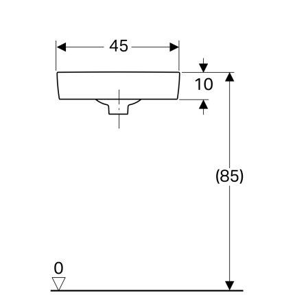 Lavoar de colt Geberit Selnova Compact 45cm, alb
