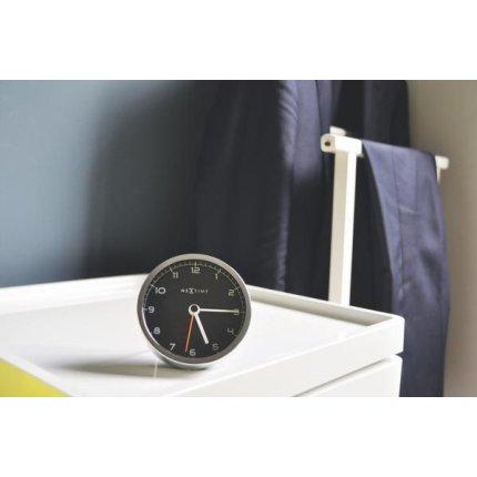 Ceas de masa NeXtime Company Alarm 9x9x7.5cm, negru
