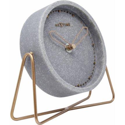 Ceas de masa NeXtime Cross Table Grey 17.5x15.5cm