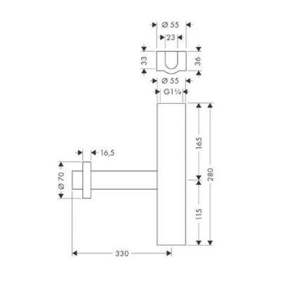 Sifon lavoar Hansgrohe S Design chrome