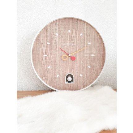 Ceas de perete NeXtime Nightingale 30cm, alb
