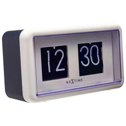 Ceas de masa NeXtime Flip 18x10x7cm, negru-alb