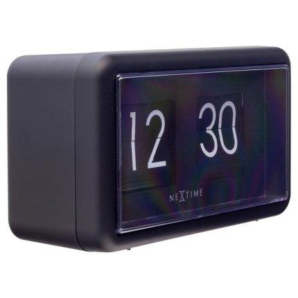 Ceas de masa NeXtime Flip 18x10x7cm, negru