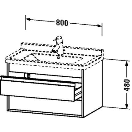 Dulap baza Duravit Ketho 80x46.5cm, 2 sertare inchidere lenta, white