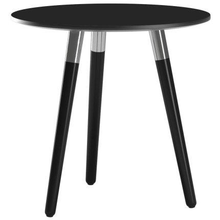 Masuta Stressless Style 55cm, h52cm, baza negru, blat negru