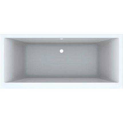 Cada baie rectangulara Geberit Selnova Square Duo 180x80cm cu picioare incluse, acril