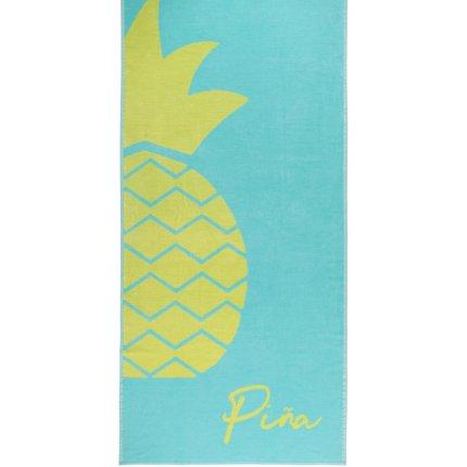 Prosop plaja Cawo Beach Pineapple 80x180cm, 15 turcoaz